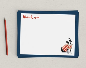 Boston Terrier Thank You Notes