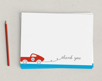 Race Car Thank You Notes