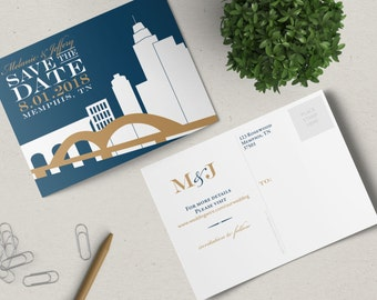 Memphis Save the Date Postcard