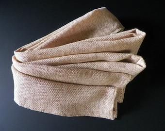 Cord Cover--Tan Linen Burlap