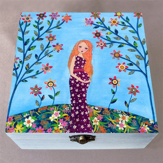 Mother And Baby Gift Box : Pregnant mother and baby large jewelry box trinket gift