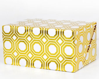 Geometric Gold Foil Wrapping Paper