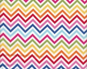 Robert Kaufman Remix Chevron Stripe in Bright - Half Yard