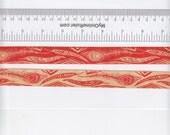 Renaissance Ribbons Anna Maria Horner Feather Ribbon in Orange - Half Yard