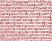 Moda Fabrics Apple Jack Music in Red - Half Yard
