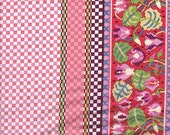 Moda Fabrics Ladies Stitching Club Gingham Border Stripe - Half Yard
