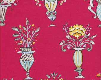 Free Spirit Fabrics Dena Designs Tea Garden Chai in Red - Half Yard