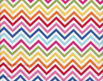 Robert Kaufman Remix Chevron Stripe in Bright - End of Bolt - Last 29 Inches