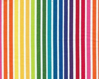 Robert Kaufman Remix Stripe in Bright - Half Yard