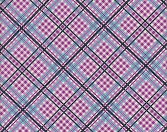 Free Spirit Fabrics Denyse Schmidt Shelburne Falls Complex Plaid in Lilac - Half Yard