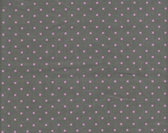 Free Spirit Fabrics Heather Bailey Lottie Da Lottie Dot in Charcoal - Half Yard