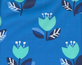 Benartex Contempo Studio Our Town Tulips in Blue - Half Yard