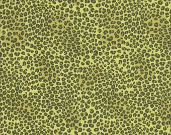 Northcott Fabrics Jive Cats Leopard in Green - Half Yard