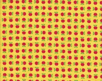 SALE - Moda Fabrics Apple Jack Apples in Red and Yellow - End of Bolt - Last 27 Inches
