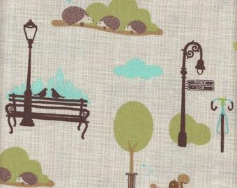 Moda Fabrics Bluebird Park Scenes in Tan - Half Yard