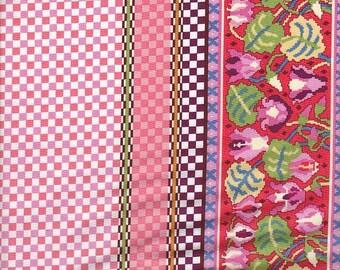 Moda Fabrics Ladies Stitching Club Gingham Border Stripe - Half Yard