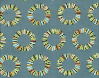 Free Spirit Fabrics Tula Pink Acacia Pineapple Slices in Slate - Half Yard
