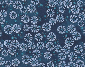 In The Beginning Fabrics A Garden For Olivia Small Flowers in Midnight Blue -  Half Yard