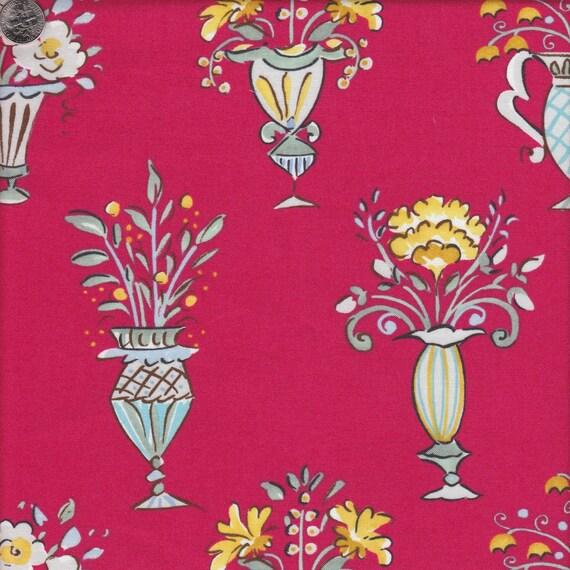 Free spirit fabrics dena designs tea garden chai in red half for Dena designs tea garden fabric