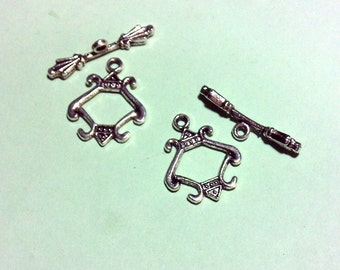 2 Fancy Toggle Clasps Crafting DIY Necklaces Bracelets Earrings Key Chains Zipper Pulls Native Ethnic Boho Cottage Chic Fantasy