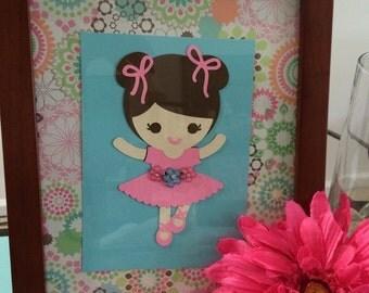 """6"""" Ballerina Die Cut Centerpiece"""