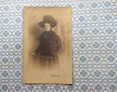 1830s photograph A Fine Woman in furs sepia photograph postcard