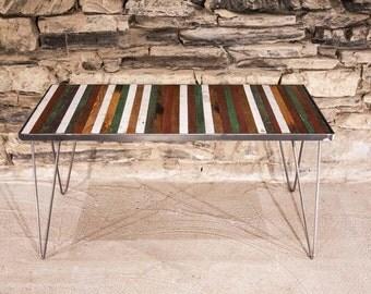 Free Shipping! Sao Paulo Coffee Table - Reclaimed Wood and Mid Century Modern Hairpin Legs