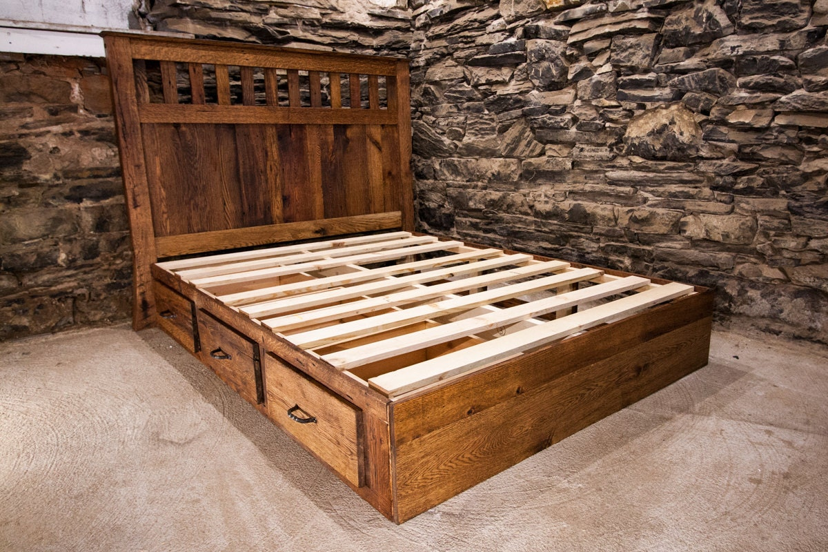 top of the line mission style queen bed frame