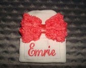 Emrie Personalized Hospital Hat New Born Hat 2-Ply Infant Cap - Little Sister Hat Newborn Beanie- Name or upto 3 initials