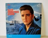 vintage 1950s Elvis sings Christmas Song / Elvis Christmas Album / LPM 1951 / vintage music collectible / king of rock and roll