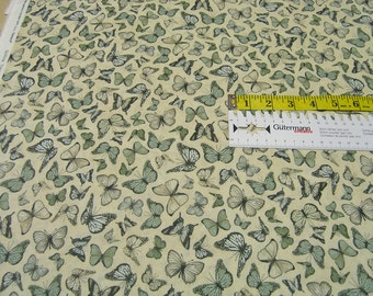 Quilting Treasures • Mirabelle  • Butterflies • Cotton Fabric 0.54yd (0.5m) 002301