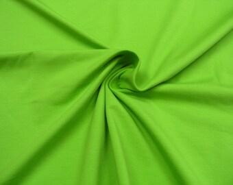 Jersey • uni kiwi • Cotton Jersey Knit Fabric 0.54yd (0,5m) 002420