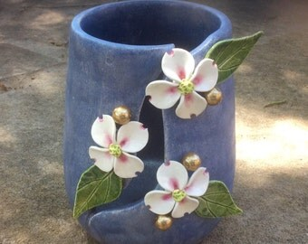 Handmade Pottery Vase, Handmade Ceramic Luminary, Handmade Ceramic Vase
