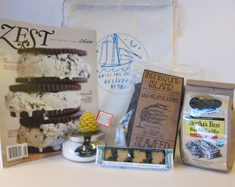 Delivered by Sail - flour sack bundle (with seaweed)