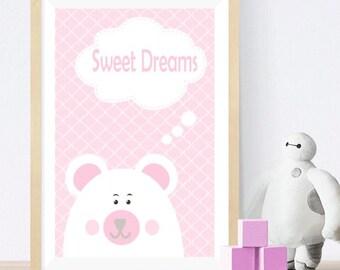 Bear - Baby room wall art