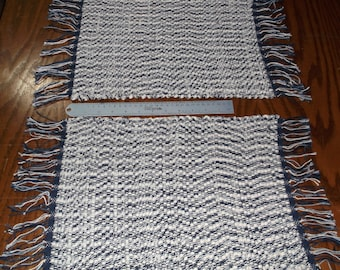 Handwoven Rag Placemats (Partly Cloudy2/pair)-016b