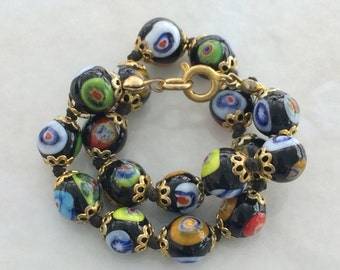 Multi-Colored Millefiori Bracelet