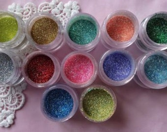 Disco Dust 12 Colors Glitter Fondant Cake Decorating
