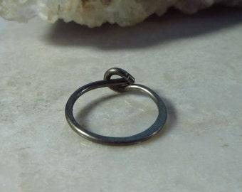 Piercing Earring Bronze Niobium Hammered SINGLE - Niobium Tragus Jewelry, Rook Jewelry, Daith Jewelry, Helix Jewelry, Cartilage