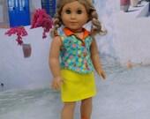 Fruit Stand - Sleeveless blouse and mini skirt set for American Girl