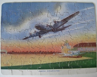 Boeing Stratoliner Puzzle Airplane Vintage