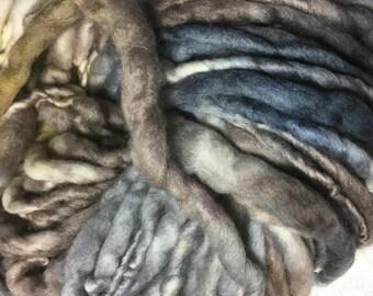 Black, Brown and  Caramel Chunky Merino  Hand spun & Hand dyed Yarn