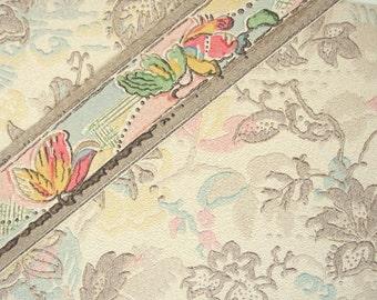 Vintage 1932 Wallpaper and Border Samples - Bonnet