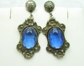 Antique Pendant Earrings Art Nouveau Jewelry E6862