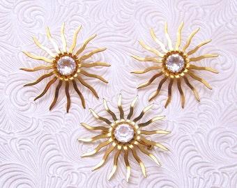 Vintage Earrings Brooch Set Coventry Sun S5451