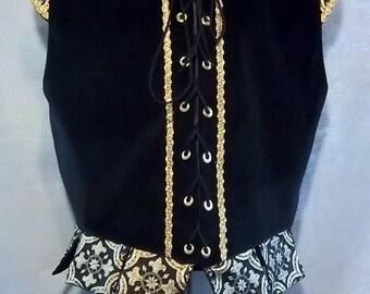 """NEW, Ready to Wear Men's Renaissance  Doublet Vest Court Costume - XL - Chest 44-46"""""""