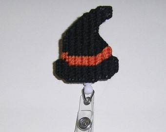 Witch's Hat Retractable Badge Clip