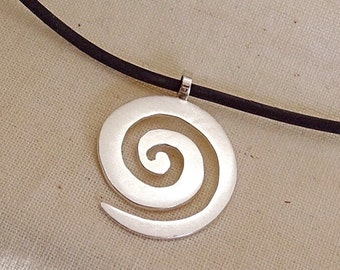 Handmade Sterling Silver Spiral Pendant