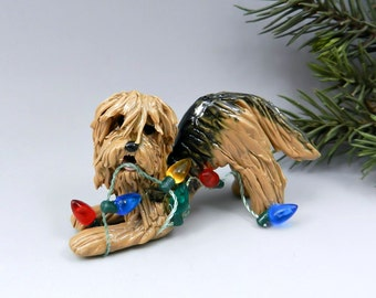 Otterhound Christmas Ornament Figurine Lights Porcelain