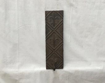 RUST Tin Ceiling tile Coat Hat Rack New York Salvage 1 one Hook 315-16
